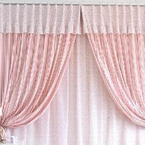 罗绮窗帘窗帘粉红