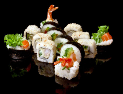 n多寿司赚蟹籽寿司