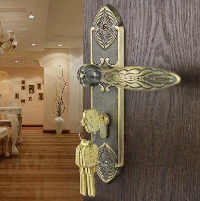 纯铜室内门锁