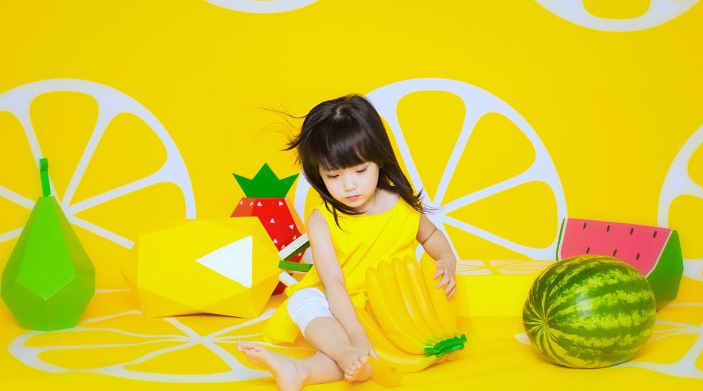 爱儿美专业儿童摄影西瓜