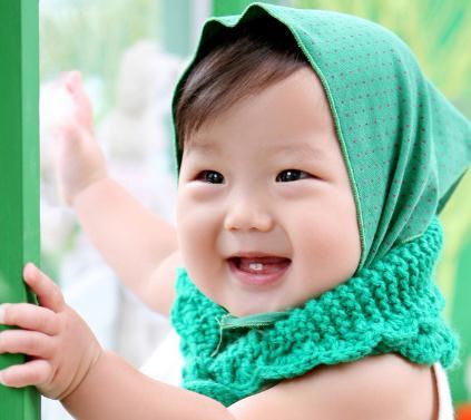 奇妙娃娃儿童摄影绿帽子