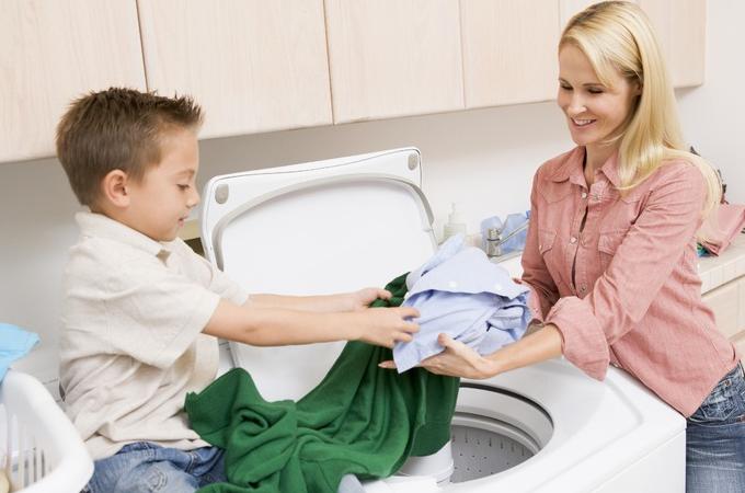 洗衣婆洗衣快乐