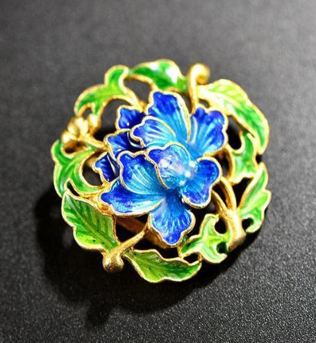 陶燕工艺饰品孔雀蓝