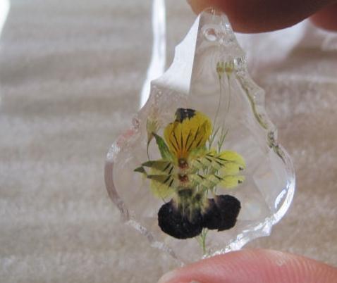 水晶押花饰品蜜蜂