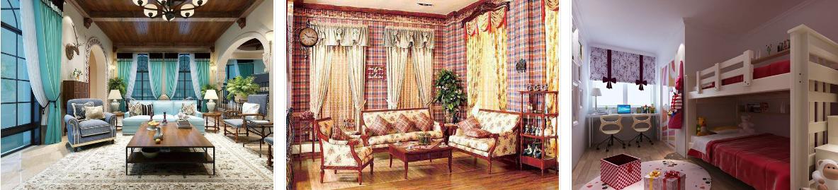 喜相帘成品窗帘款式多样