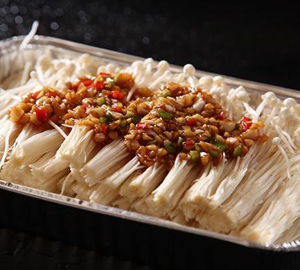 芦掌柜肉夹馍烤金针菇
