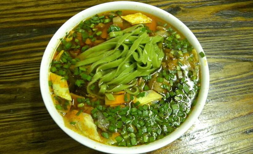 陕食山面馆菠菜臊子面