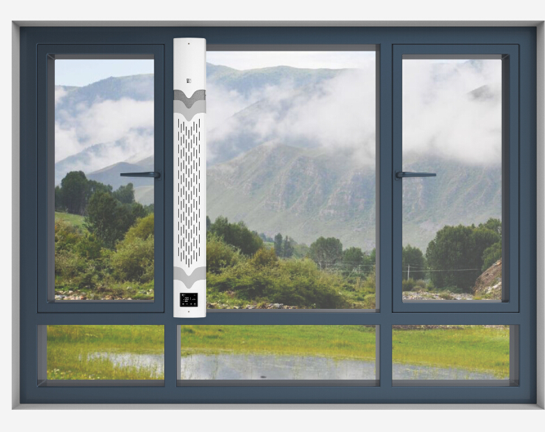 青空窗式新风净化器安装示意图