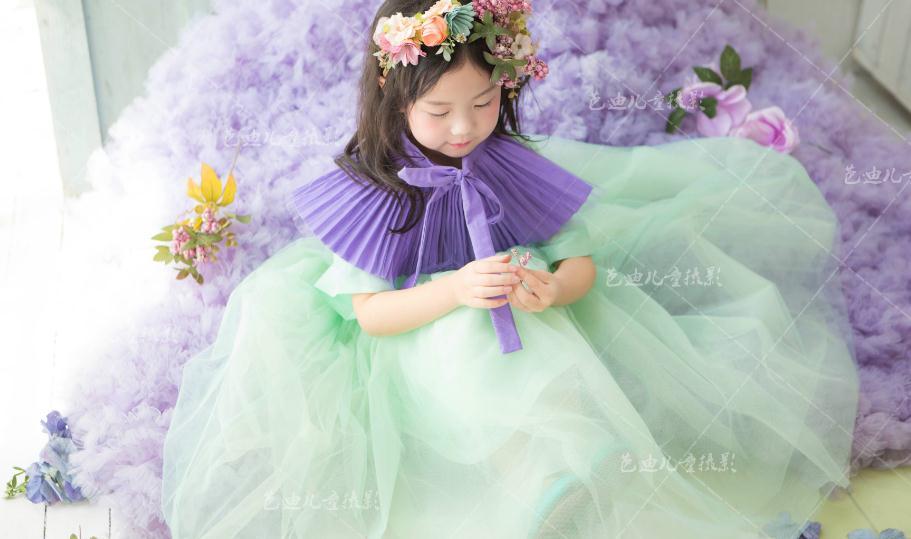 芭迪儿童摄影紫色