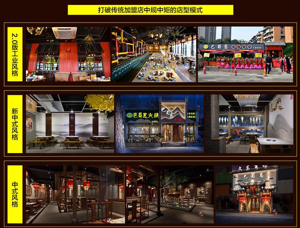 巴蜀崽火锅店型模式