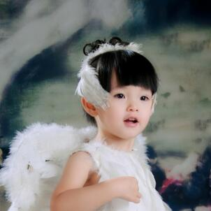 格林童趣儿童摄影羽毛