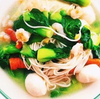 面馆温州特色海鲜青菜面