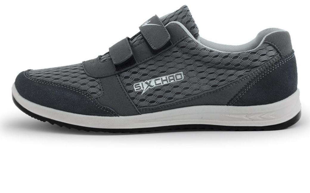 爱健步老人鞋灰色