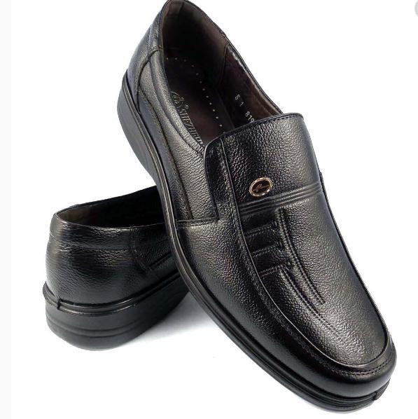 老人鞋棕色