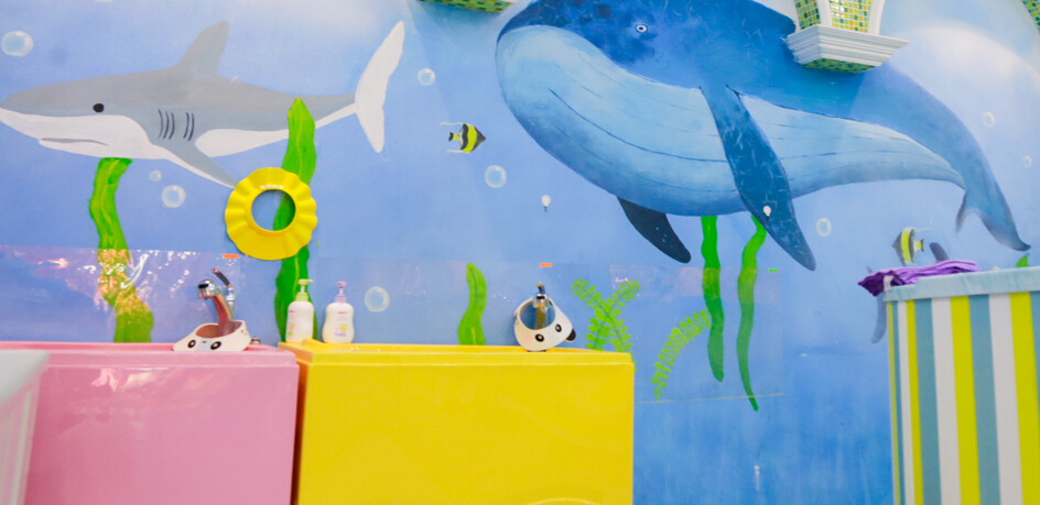 蓝月儿宝宝洗手池