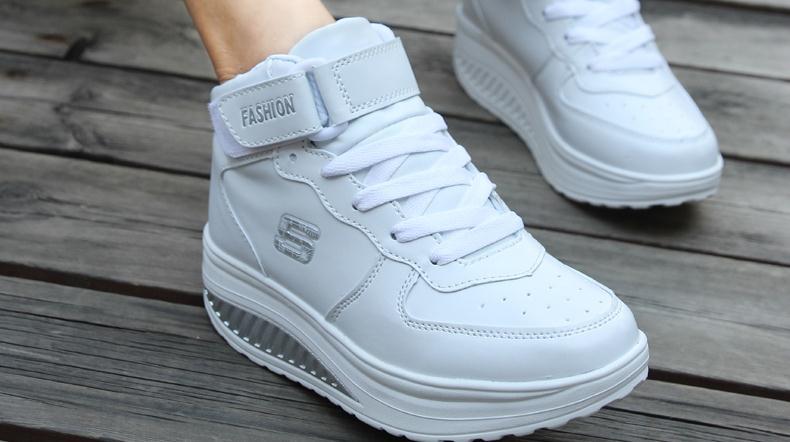 百步康老人鞋白鞋