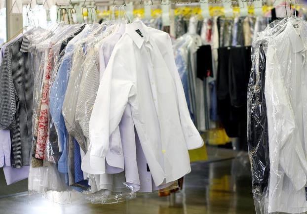 干洗店衣物