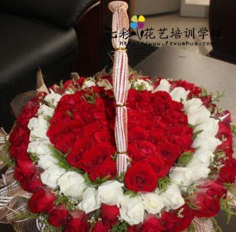 七彩花艺培训玫瑰花