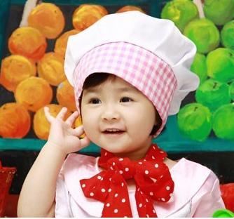中国娃娃儿童摄影花帽子