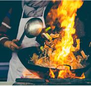 食将大火烹调