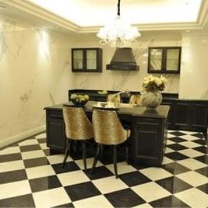 新明珠瓷砖客厅黑白砖