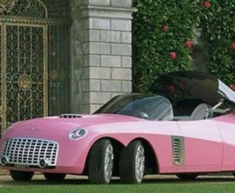爱卡汽车美容装饰粉色