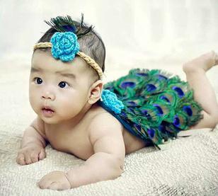 中国娃娃儿童摄影孔雀2