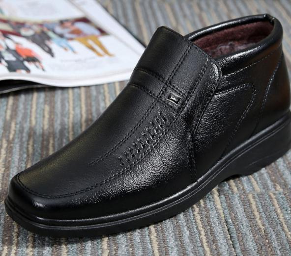动力健老人鞋皮鞋