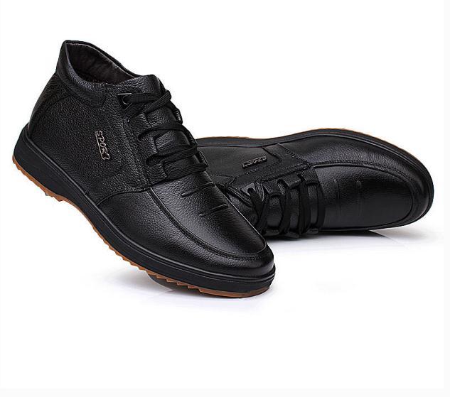 动力步老人鞋皮鞋
