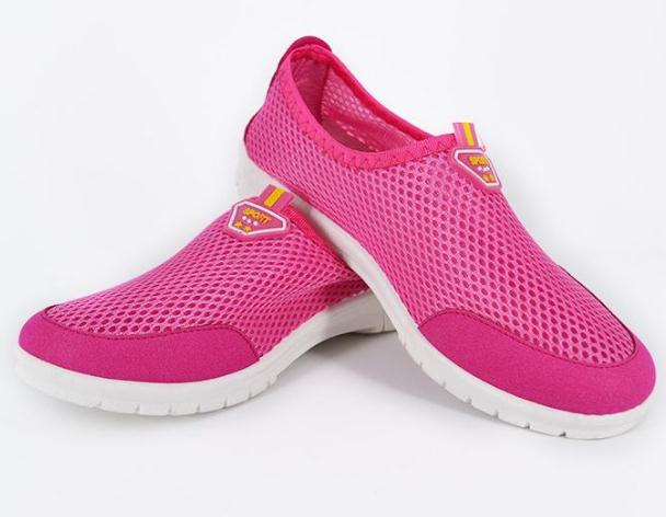 老人鞋粉色