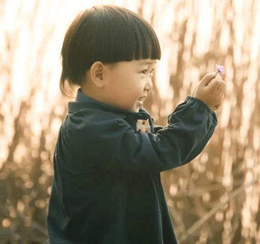金色童年儿童摄影芦苇