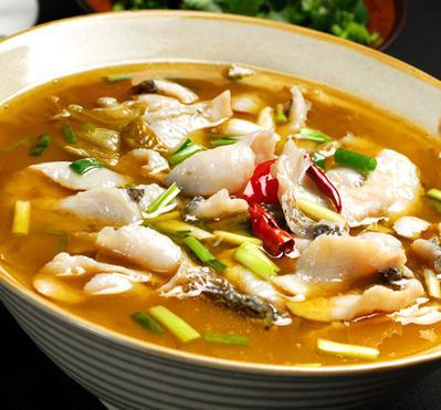 爬山虎酸菜鱼米饭酸菜