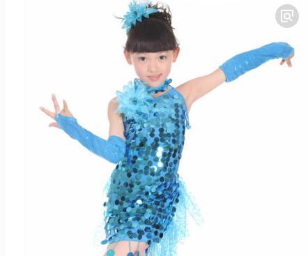 艺涓拉丁舞蹈蓝色