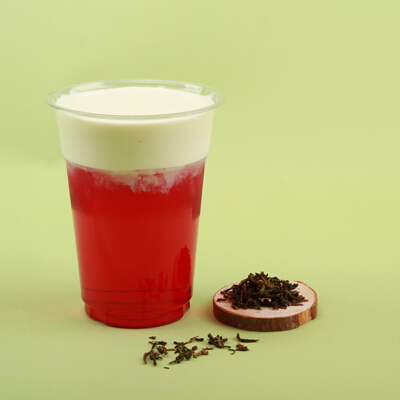 在麦田红茶奶盖