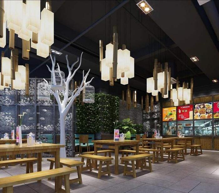 肖记面馆中式风格