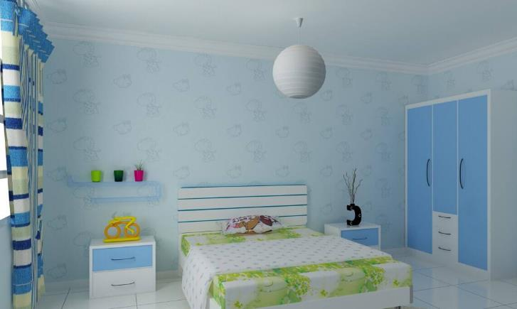 青竹林硅藻泥儿童房装修