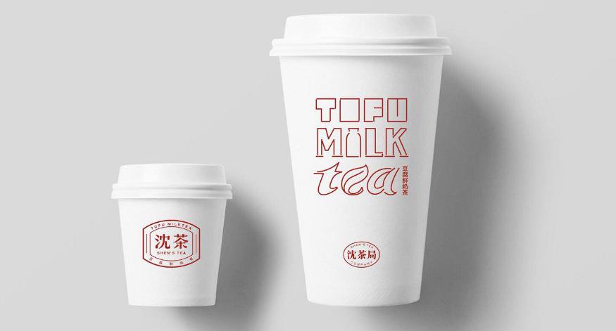 沈茶豆腐鲜奶茶品牌VI