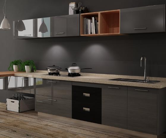法迪奥不锈钢橱柜开放式厨房