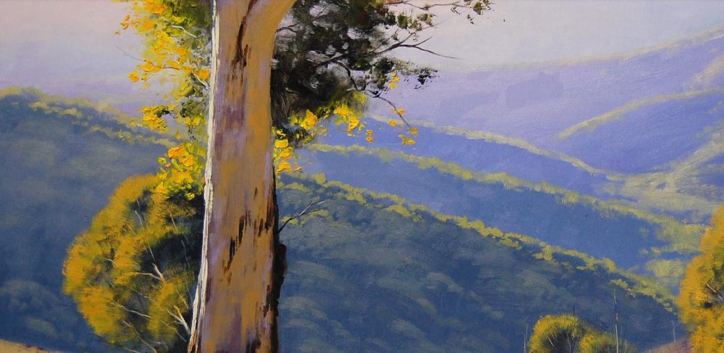 林木艺术培训油画大树