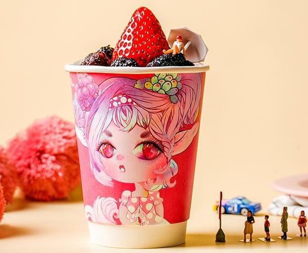 浆果食物恋水果酸奶