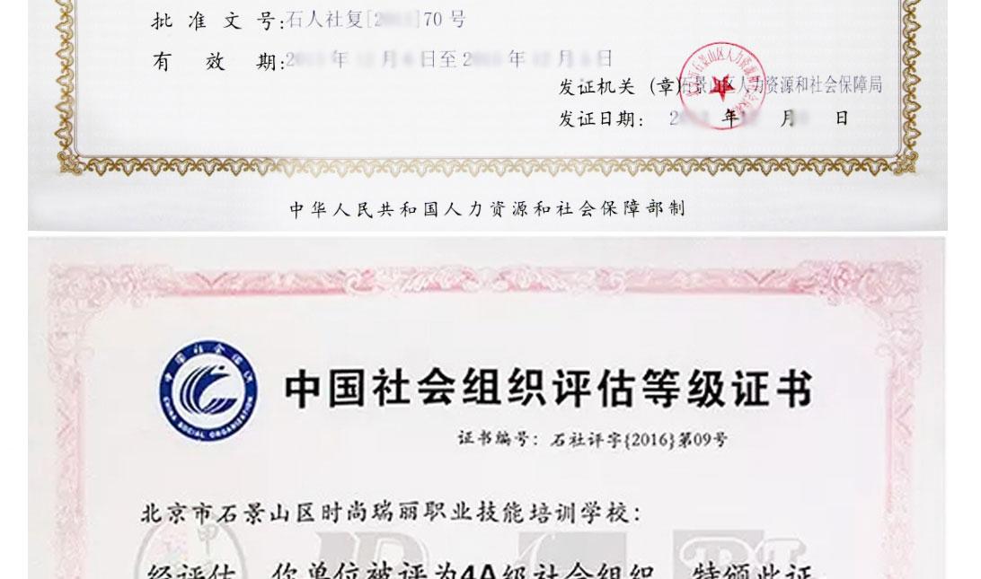 时尚瑞丽荣誉证书