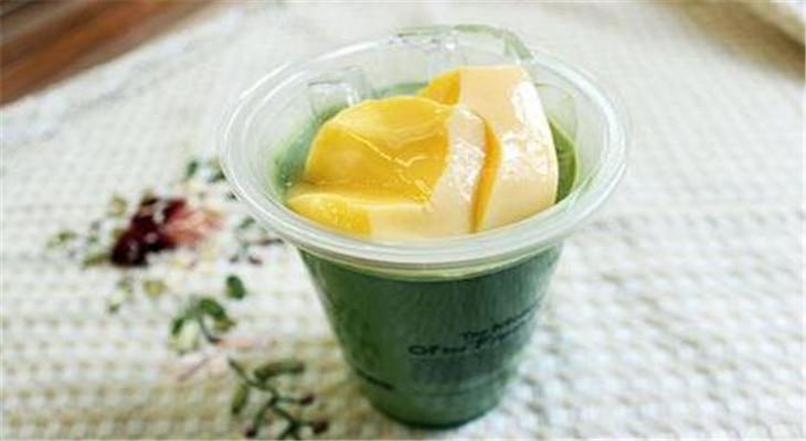 蜜巢奶茶店水果布丁