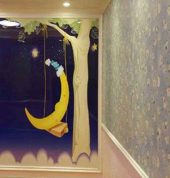 欧邦德环保集成墙饰儿童房墙饰