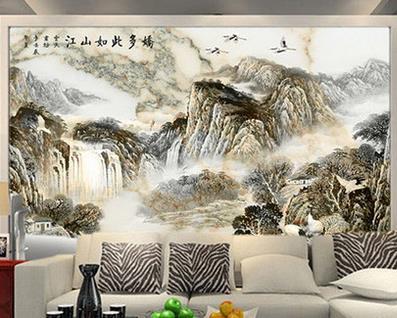 美滴整体集成墙面山水画