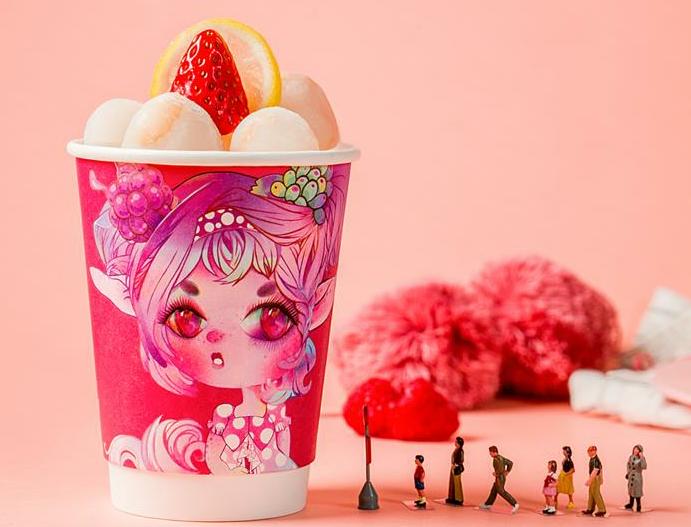 浆果食物恋草莓酸奶