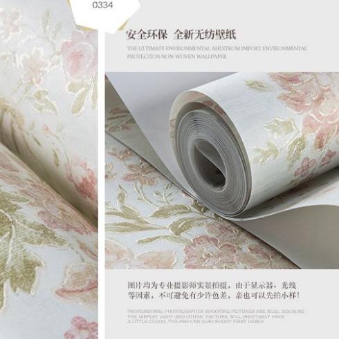 玛尚壁纸 清新田园温馨浪漫大花卧室