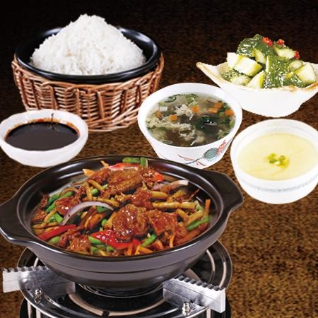 稻谷滿倉瓦鍋飯黑椒牛肉飯