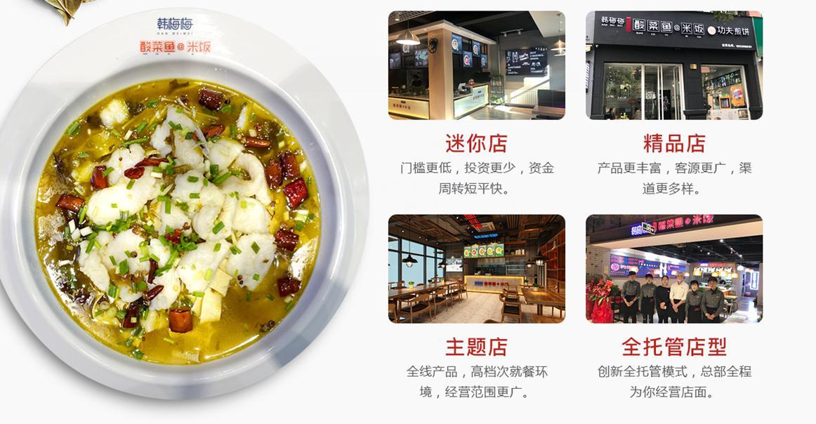 韩梅梅酸菜鱼各种店铺形式