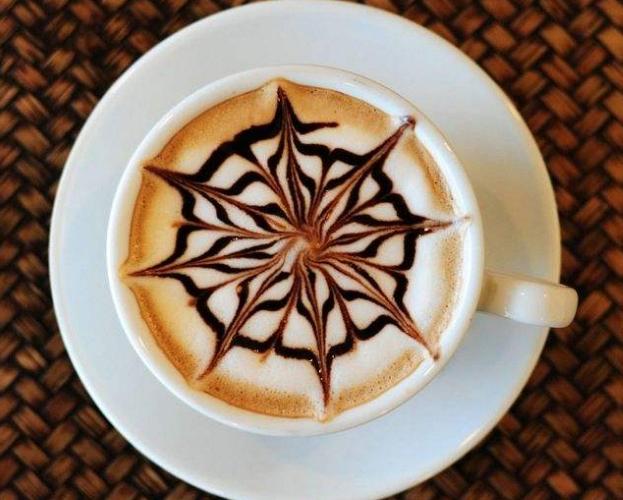 蓝樽咖啡店咖啡拉花