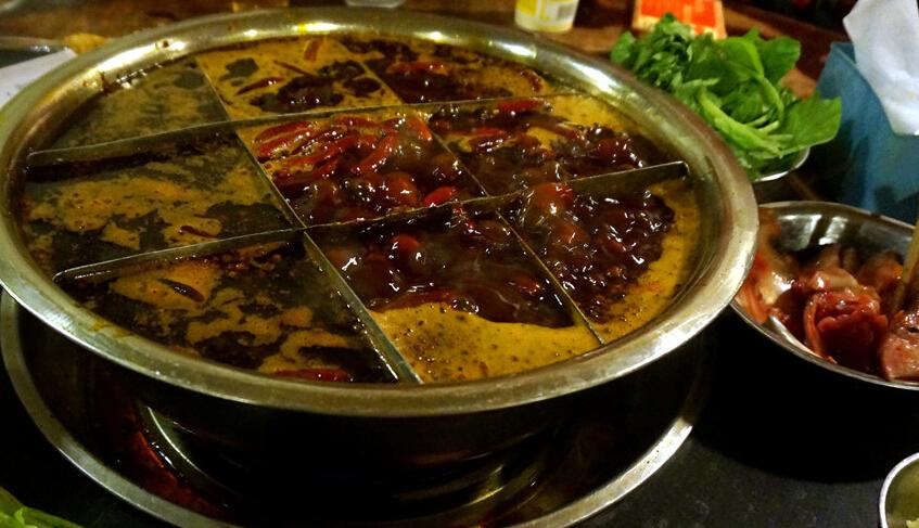 蜀九香火锅特色菜好吃